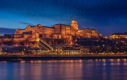 Budapest slott Arkivfoton