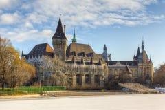 budapest slotthungary vajdahunyad Arkivbilder