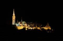 budapest slottnatt Royaltyfria Foton