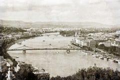 Budapest solnedgång Royaltyfri Foto