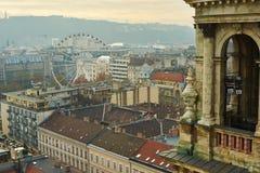 Budapest som ses från över Royaltyfri Bild