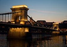Budapest am Sonnenuntergang Stockbild