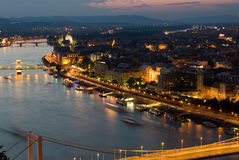 Budapest-Sonnenuntergang Stockbilder