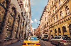 Budapest - städtische Szene der europäischen Stadt stockfotos