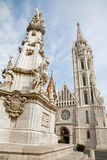 Budapest - St. Matthew's Cathedral and column Stock Image