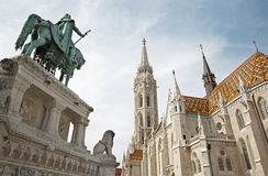 Budapest - St. Matthew s gothic Cathedral Royalty Free Stock Photos