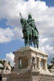 budapest st statua Stephen Fotografia Stock