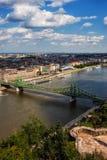 Budapest stad på Danube River Royaltyfria Foton