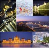 Budapest stadscollage Royaltyfri Foto