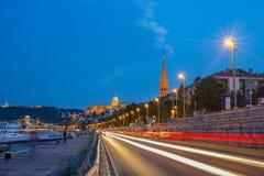 Budapest stadshorisont - Budapest - Ungern Arkivfoto