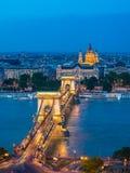 Budapest stadshorisont - Budapest - Ungern Arkivfoton