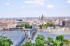 budapest stadspanorama arkivfoto
