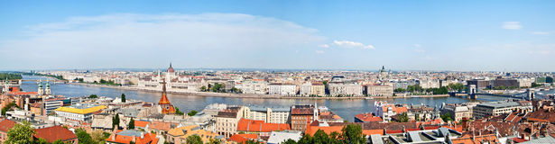 Budapest-Stadtpanorama mit Donau-Ansicht, Ungarn Lizenzfreies Stockbild