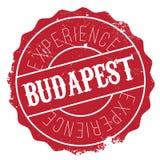 Budapest stamp rubber grunge Stock Image