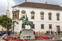 Budapest. The statue of Hussar general András Hadik 4 Royalty Free Stock Photo