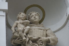 Budapest Statues - Saint with Child. Image of a statue of a Saintly figure holding a child Stock Images