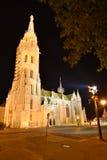 Budapest StMatthias kyrka Arkivfoto
