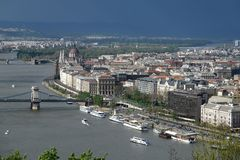 Budapest Storm Royalty Free Stock Images