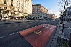 Budapest-Straßenansicht Stockfotografie