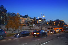 Budapest avenue night view Stock Photography