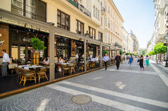 Budapest streets Royalty Free Stock Photo
