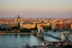 Budapest. A sunset in the city Budapest stock image