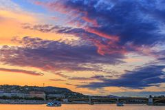 Budapest at sunset, Hungary Royalty Free Stock Photography