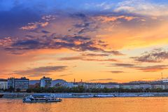 Budapest at sunset Royalty Free Stock Photo