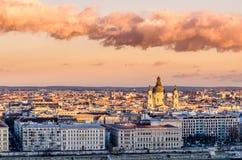 Budapest, sunset Stock Image