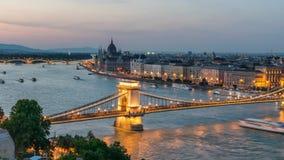 Budapest city skyline stock video