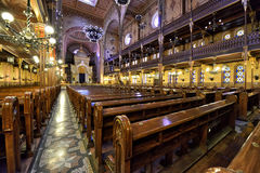 budapest synagoga Arkivbilder