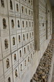Budapest Synagogue. Pebbles in commemorations of the dead victims of the Holocaust, in the cemetery outside at the synagogue in Budapest , Hungary, the largest Royalty Free Stock Photos