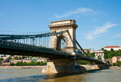 Budapest, Szechenyi Chain Bridge Royalty Free Stock Photos