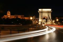 budapest tänder natt Royaltyfri Bild