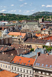 Budapest Tenement Houses. City of Budapest in Hungary, view from above, apartment houses, tenement buildings, residential architecture royalty free stock image