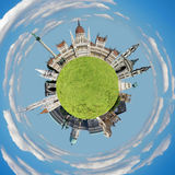Budapest tiny planet Stock Photography