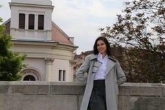 Budapest tourist woman  Stock Photography