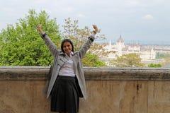 Budapest tourist woman Royalty Free Stock Photo