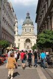 Budapest tourists royalty free stock photos