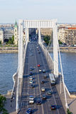 Budapest Traffic on Elizabeth Bridge Stock Images