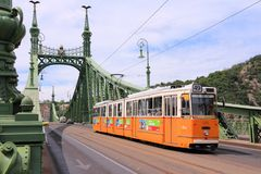 Budapest tram Royalty Free Stock Photography