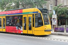 Budapest tram Royalty Free Stock Photos