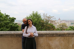 Budapest Traveling  couple Royalty Free Stock Image