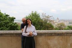 Budapest Traveling couple Royalty Free Stock Image