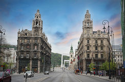 Budapest Twins buildings Royalty Free Stock Images
