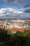 Budapest und Fluss Donau Stockfotografie