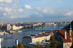 Budapest und Fluss Donau Lizenzfreie Stockfotografie