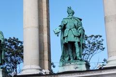 BUDAPEST, UNGARN - 8. AUGUST 2012: Skulptur von Gabriel Bethlen Vastagh Gyorgy, 1902 Lizenzfreie Stockfotos