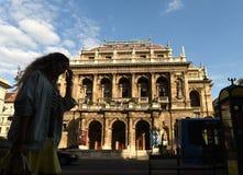 Budapest, Ungarn - 29. August 2017: Ungarische Staatsoper Lizenzfreie Stockfotografie