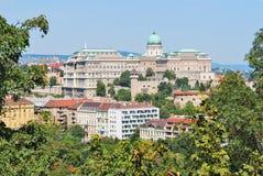 Budapest, Ungarn Höchst-Ansicht von Buda-Hügel Stockbild